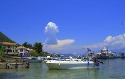 Bella vista della spiaggia, Grecia Immagini Stock