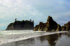 Bella vista della spiaggia nel parco nazionale olimpico, Washington, U.S.A. fotografia stock