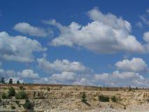 Bella vista della steppa di estate Fotografia Stock