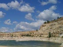 Bella vista della steppa di estate Immagine Stock