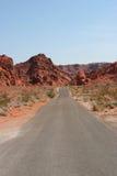 Bella vista della strada del deserto Fotografia Stock