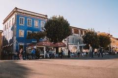 Bella vista della strada del Portogallo nel tempo di giorno immagini stock libere da diritti