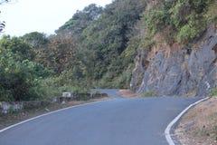 Bella vista della strada in India Immagini Stock Libere da Diritti