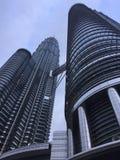 Bella vista della torre gemella Immagine Stock Libera da Diritti