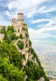 Bella vista della torre a San Marino Immagine Stock Libera da Diritti