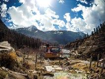 Bella vista della valle di Parvati Immagine Stock Libera da Diritti