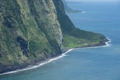 Bella vista della valle di Waipio sulla grande isola delle Hawai Immagine Stock