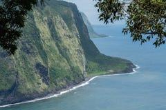 Bella vista della valle di Waipio sulla grande isola delle Hawai Immagini Stock Libere da Diritti