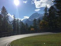 Bella vista delle alpi dell'Austria Immagini Stock