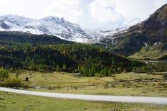 Bella vista delle alpi dell'Austria Fotografia Stock