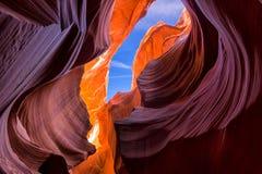 Bella vista delle formazioni stupefacenti dell'arenaria in A più basso famoso fotografia stock libera da diritti