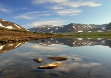 Bella vista delle montagne di Ural immagini stock