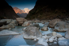 Bella vista delle montagne Himalayan, Nepal Immagini Stock