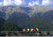 Bella vista delle montagne maestose Immagine Stock
