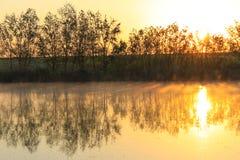 Bella vista di alba Immagini Stock Libere da Diritti