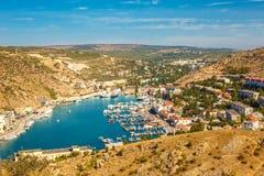 Bella vista di Balaclava dalla cima fotografie stock libere da diritti