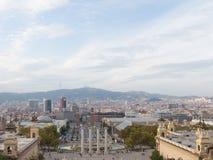 Bella vista di Barcellona fotografia stock libera da diritti