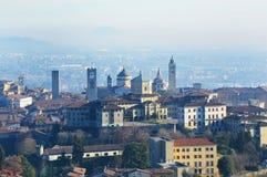 Bella vista di Bergamo, Lombardia, panorama Italia Immagine Stock