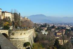 Bella vista di Bergamo, Lombardia, panorama Italia Fotografia Stock Libera da Diritti