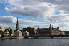 Bella vista di costruzione a Stoccolma immagine stock libera da diritti