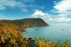Bella vista di Goa dal livello, India Fotografie Stock Libere da Diritti