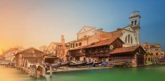 Bella vista di Grand Canal a Venezia Immagini Stock Libere da Diritti
