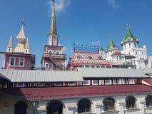 Bella vista di kremlin in Izmailovo, Mosca, Russia immagine stock libera da diritti