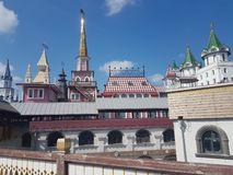 Bella vista di kremlin in Izmailovo, Mosca, Russia immagini stock libere da diritti