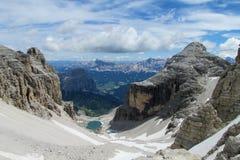 Bella vista di panorama delle dolomia Immagine Stock Libera da Diritti