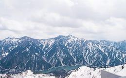 Bella vista di panorama montagna delle alpi del Giappone, Tateyama, Toyama Immagini Stock
