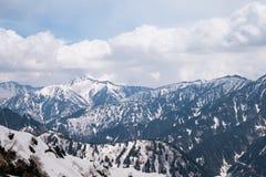 Bella vista di panorama montagna delle alpi del Giappone, Tateyama, Toyama Fotografia Stock Libera da Diritti
