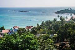 Bella vista di piano Unawatuna Sri Lanka Fotografie Stock Libere da Diritti