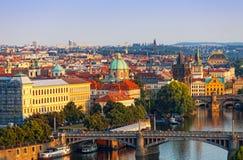 Bella vista di Praga Immagine Stock