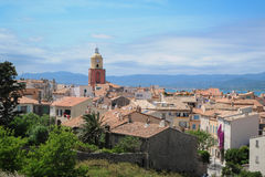 Bella vista di Saint Tropez fotografia stock libera da diritti