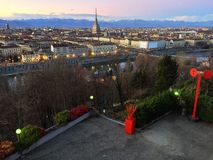 Bella vista di Torino Fotografia Stock Libera da Diritti