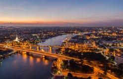 Bella vista di tramonto, Tailandia Fotografia Stock