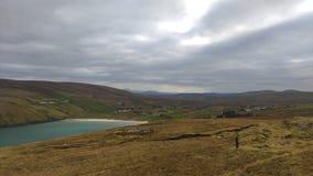 Bella vista di un paesaggio in Irlanda! Fotografia Stock