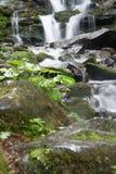 Bella vista di una cascata nelle montagne Fotografie Stock