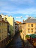 Bella vista di vecchia città a Praga Fotografia Stock