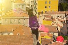 Bella vista di vecchia citt? di Lisbona, Portogallo Fotografia Stock Libera da Diritti