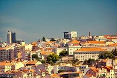 Bella vista di vecchia citt? di Lisbona, Portogallo Immagine Stock Libera da Diritti