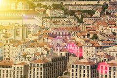 Bella vista di vecchia citt? di Lisbona, Portogallo Fotografie Stock