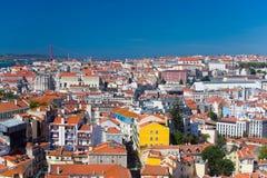 Bella vista di vecchia citt? di Lisbona, Portogallo Fotografie Stock Libere da Diritti