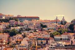Bella vista di vecchia citt? di Lisbona, Portogallo Fotografia Stock