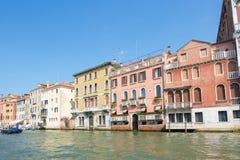 Bella vista di Venezia e di Grand Canal Fotografie Stock Libere da Diritti