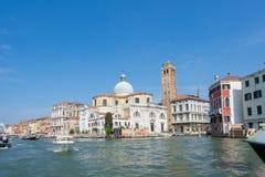Bella vista di Venezia e di Grand Canal Immagine Stock