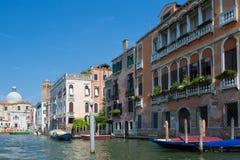 Bella vista di Venezia e di Grand Canal Fotografia Stock Libera da Diritti