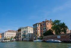 Bella vista di Venezia e di Grand Canal Immagini Stock Libere da Diritti