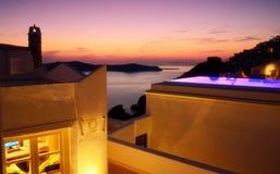 Bella vista Fira Santorini Grecia del mar Egeo Fotografia Stock