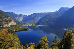 Bella vista Hallstattlak del lago austria Hallstatt Immagine Stock